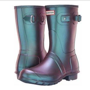 Hunter Nebula Wave Blue Rain Boots NWB